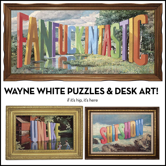 wayne white puzzles and desk art