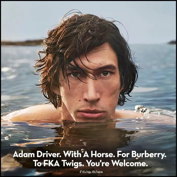 Adam Driver Burberry hero