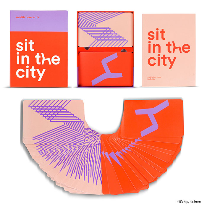 sit in the city cards box and pamphlet