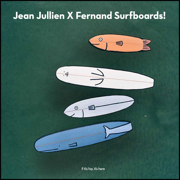 jean jullien x fernand surfboards