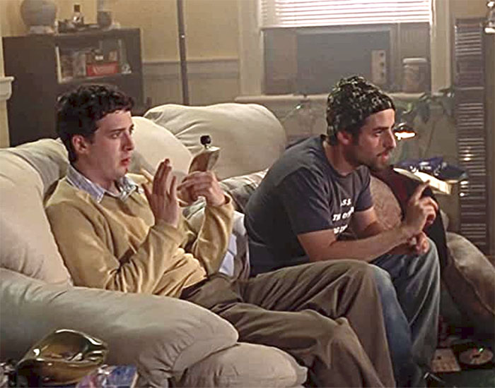 Dave Krumholtz with the shofar pipe in Harold and Kumar go to White Castle IIHIH