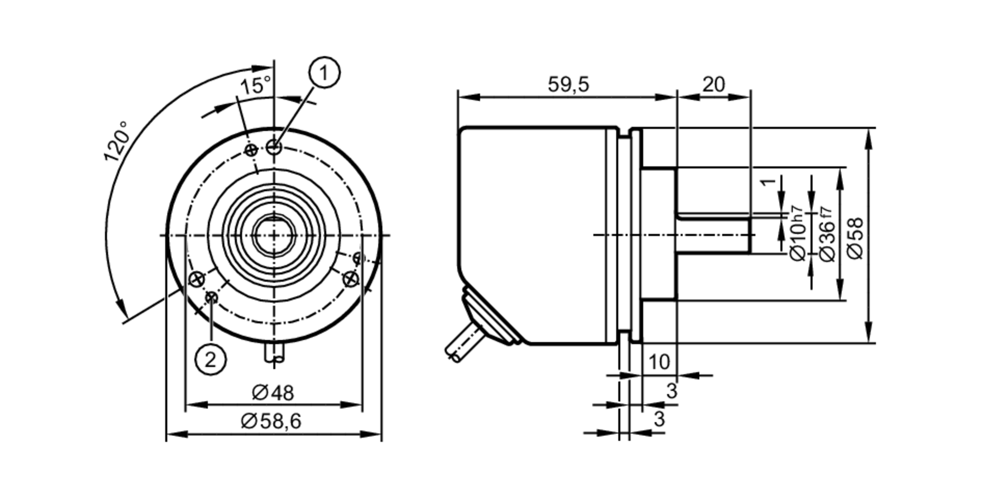 hight resolution of incremental encoder basic line scale drawing