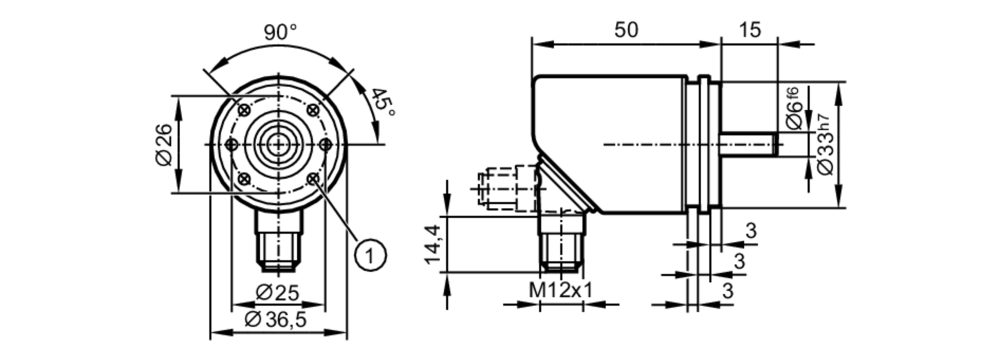 medium resolution of incremental encoder basic line scale drawing