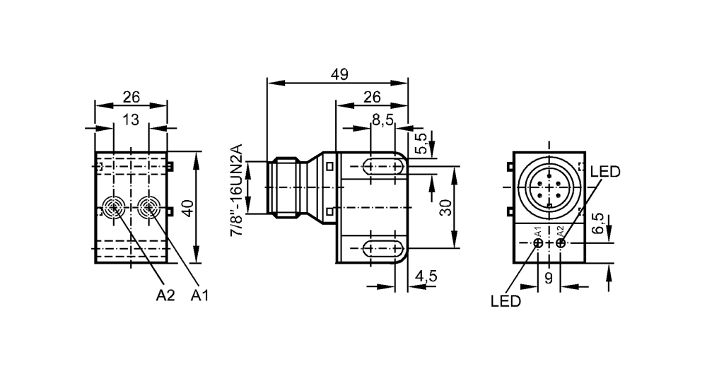 medium resolution of in0117 dual inductive sensor for valve actuators type in and ac pnp sensor wiring ifm proximity sensor wiring diagram