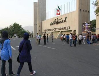 ifmat - Iran Regimes Vigilantes Acting on Khameneis Fire-At-Will Order to Prevent Women From Entering Stadiums