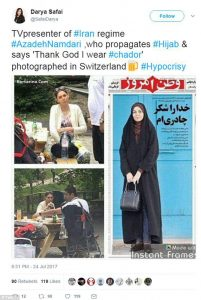 ifmat - Iranian TV host accused of hypocrisy after being filmed drinking beer without a headscarf 2