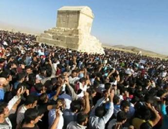 ifmat - Iran regime panic and fear from the ceremony of cyrus the great