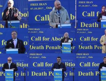 ifmat - Rally against iran regime death penalty in Norway