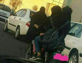 ifmat - Two girls arrested for motorcycling in Iran