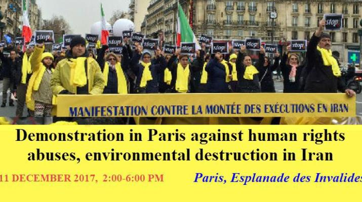ifmat - Demonstrations in Paris against human rights abuses in Iran