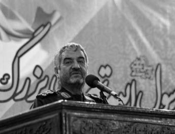 ifmat - Iran regime IRGC commander praises terrorist proxy group Basij