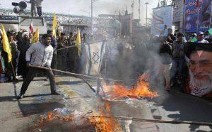 ifmat - British flags set alight in Tehran in chaotic Iran parade1