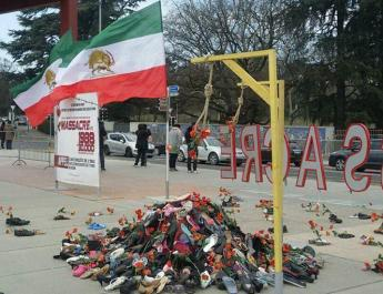 ifmat - Protest against presence of Iran regimes sanctioned minister in UN
