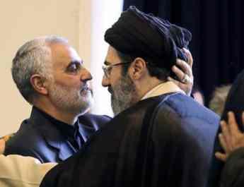 ifmat - Qasem Soleimani and Khamenei son together in Baghdad