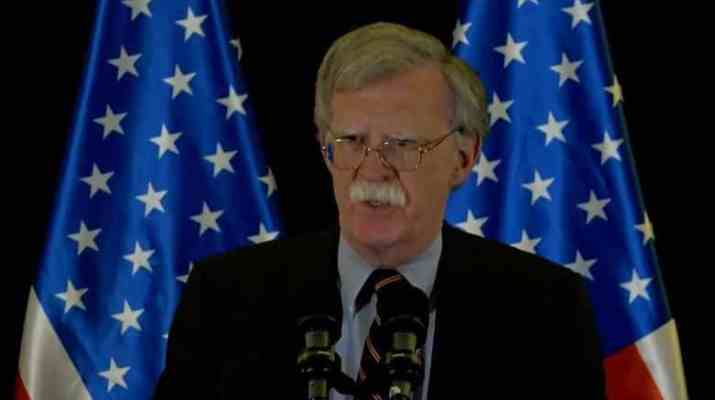 ifmat - Bolton Tehran behavior must change