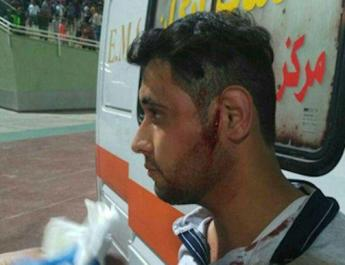 ifmat - Iranian security forces attack protesters at football match
