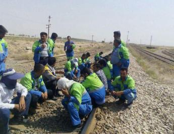 ifmat - Rail workers strike over unpaid wages continues