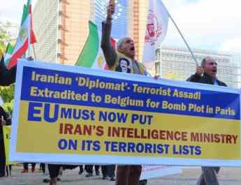 ifmat - Protesters demand Iran intelligence ministry be placed o EU terror black list