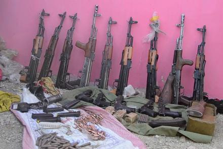 ifmat - Iran-made weapons seized from Taliban in Ghazni