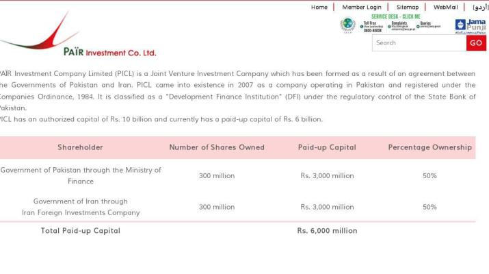 ifmat - Pair investment company shareholder