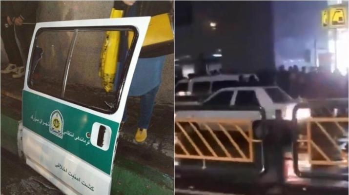 ifmat - Iranians attack morality police van to save women from arrest
