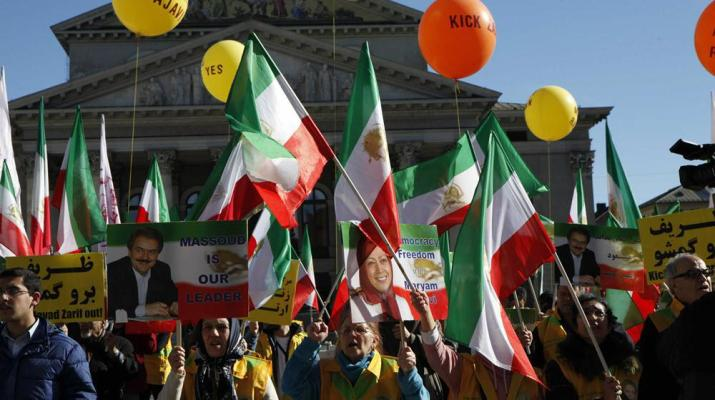 ifmat - MEK supporters urge Munich security conference to expel Zarif