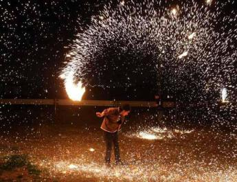 ifmat - Iranian police arrest dozens at traditional fire festival