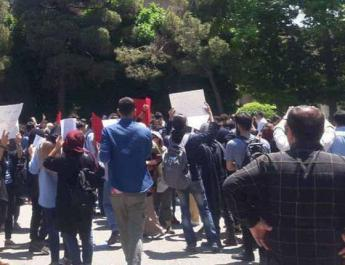 ifmat - Basij plainclothes attack Tehran university students protesting compulsory hijab