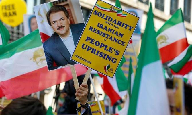 ifmat - Iranian opposition groups protest in Brussels