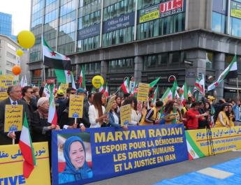 ifmat - MEK supporters rally in EU capital in support of regime change in Iran