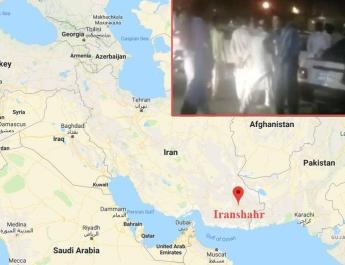 ifmat - Protest in Iranshahr against beating of a citizen by the police