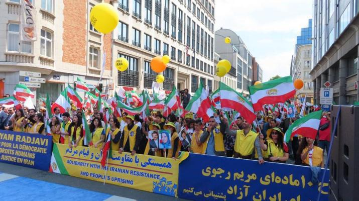 ifmat - Thousands attend MEK protesters in Brussels