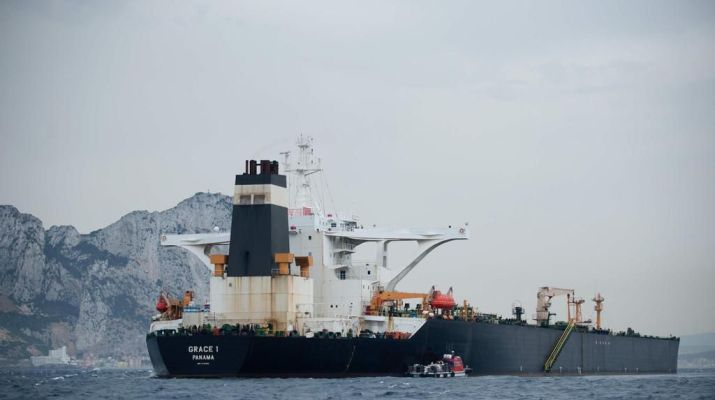 ifmat - Detained Iran tanker in Gibraltar had 2 1 million barrels of crude oil on it