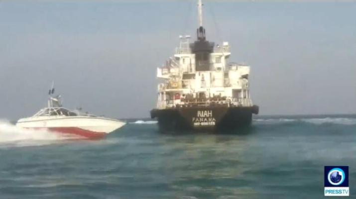 ifmat - Iran Regime seizes foreign oil tanker with crew