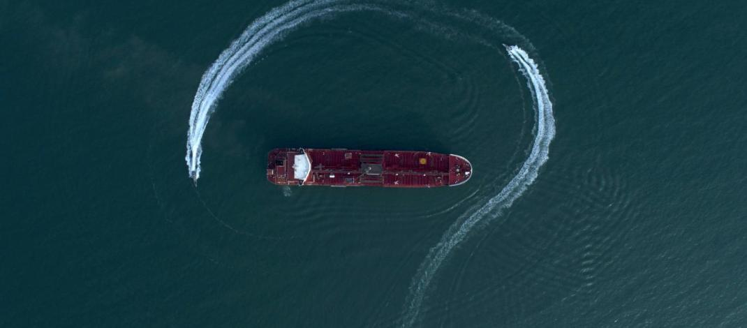 Satellites images of spotted two seized tankers in Iran