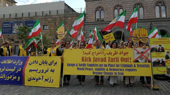 ifmat - Javad Zarif visit to Sweden was met with stormy protests