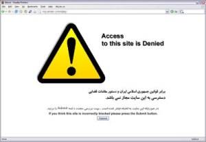 Internet censorship in Iran