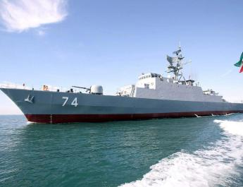 ifmat - Iranian navy employ warships and choppersi n Caspian Sea drills