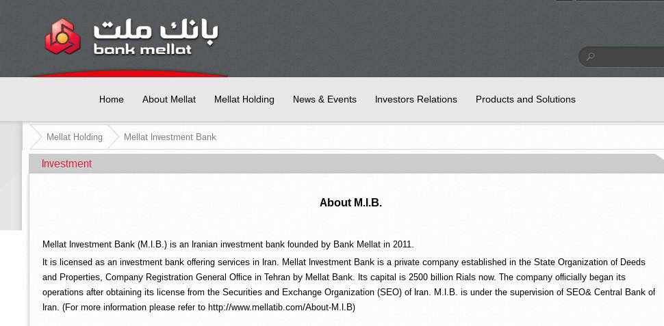 ifmat - Mellat Investment Bank - Bank Mellat