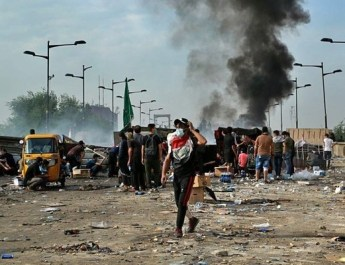 ifmat - Protests in Iraq turn into anti-Iranian demonstrations
