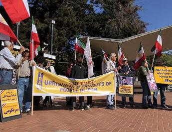 ifmat - Iranian American MEK Supports rally ins Support of Iran protest