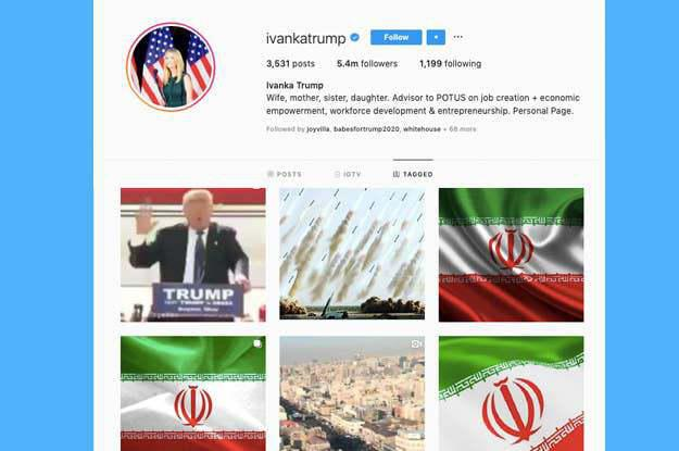 ifmat - A pro-Iran Instagram campaign targeted the Trump family
