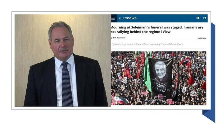 ifmat - Bob Blackman MP says Iranians are not rallying behind the regime