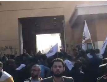 ifmat - Iranian-backed terror chief Qais Khazali leads violent protests at US embassy in Iraq