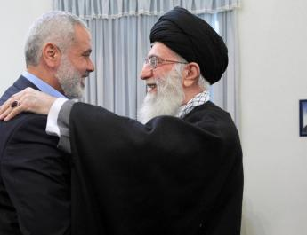 ifmat - Haniyeh headed a senior Hamas delegation at Solemani funeral