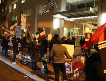 ifmat - Iranian-Americans protest revolution anniversary in Washington