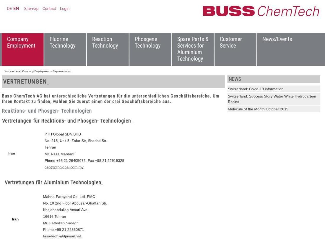 ifmat - BUSS ChemTech Iran