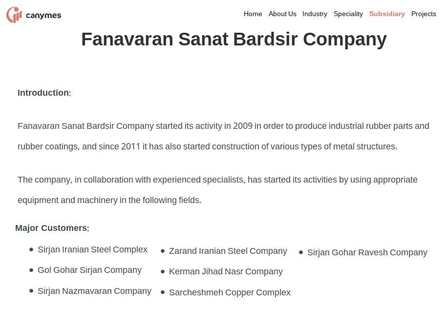 ifmat - Fanavaran Sanat Bardis Company