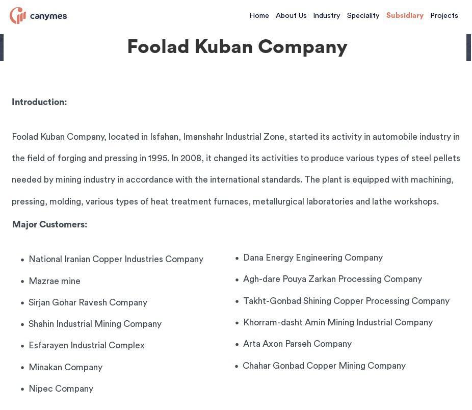 ifmat - Foolad Kuban Company