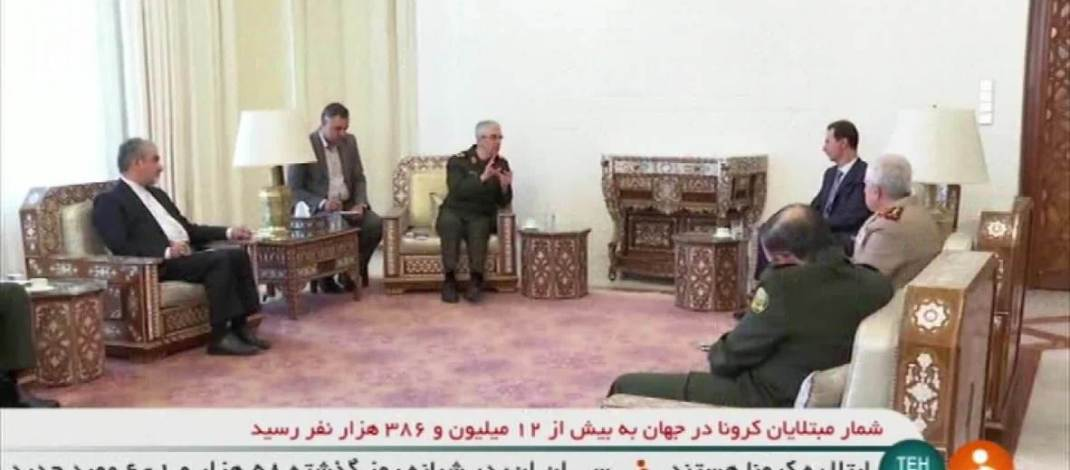 Assad holds meeting with Iran's armed forces chief of staff